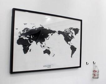 monde carte murale sticker decal mappemonde par dubudumo sur etsy. Black Bedroom Furniture Sets. Home Design Ideas