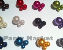Unique Jumbo & Assorted Sizes 10mm 14mm 18mm 30mm Plastic Bead Pearls Ball Vase Fillers Table Scatter for Wedding Home Party Decoration