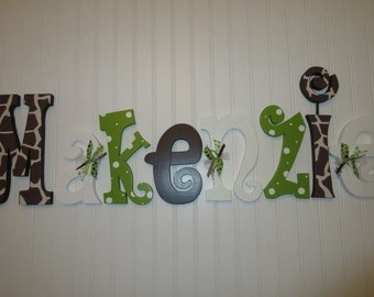 Nursery decor, Nursery wall decor, Nursery letters, Nursery wall hanging letters, Giraffe print, nursery decor, nursery wall letters