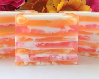 Tropical Passion Soap - Sweet Orange, Plumeria, Island Coconut handcrafted glycerin soap