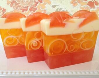 Sweet Orange Soap - Glycerin Soap - Citrus Soap - Orange Essential Oil Soap