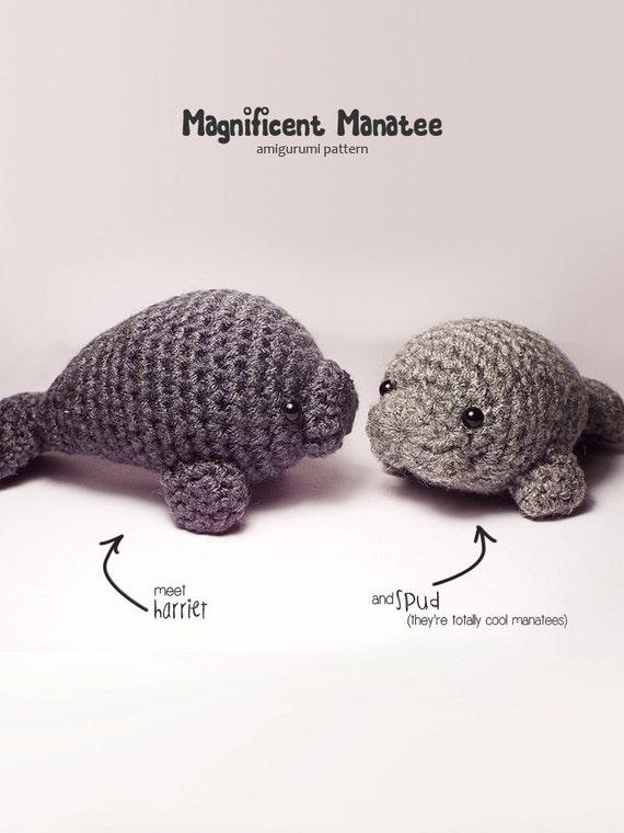 Crochet Amigurumi Manatee : Magnificent Manatee amigurumi pattern