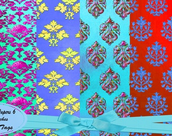Bold Damask Papers 6