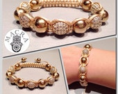 Items Similar To Shamballa Style Bracelet On Etsy