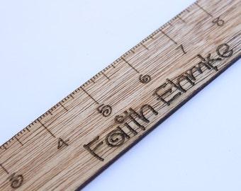 Personalized Ruler, Custom Ruler, Ruler, Custom Wooden Ruler, Engraved Wooden Ruler, Children's Ruler, Custom Child's Ruler, Rulers
