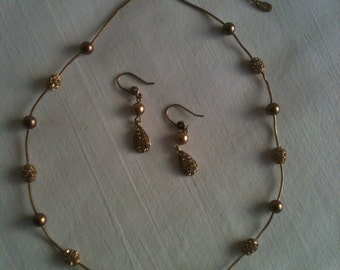 Vintage Necklace and Earrings Set