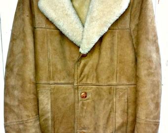 Shearling barn coat | Etsy