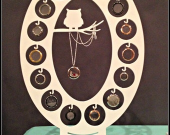 15 Locket Owl Display, Large O  (Black LIMITED QUANTITIES)