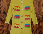 Steve FabriKant for Neiman Marcus Yellow 80s Sweater Dress