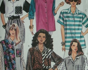 Misses Blouses Multiple Styles Sizes 10-12 EASY McCalls Pattern 5808 Fashion Basics UNCUT Pattern 1992