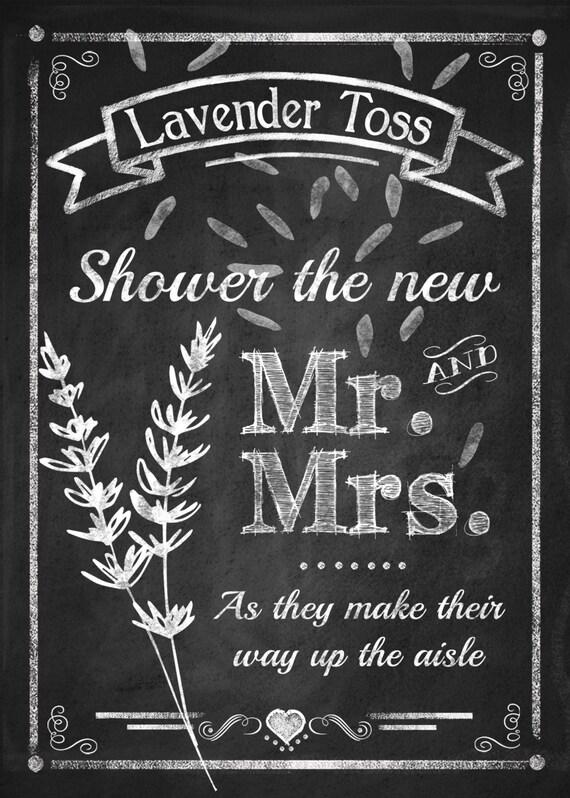 Lavender Toss Wedding Sign Diy Printable By Psprintables
