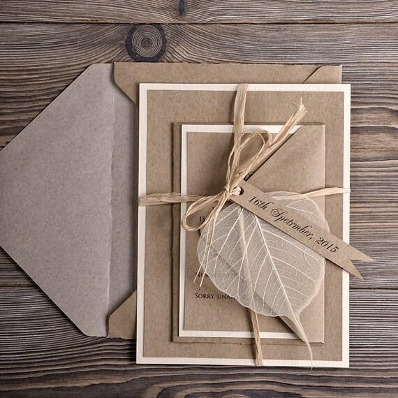 Hochzeitseinladungen (10), Eco Recycling Papier Hochzeitseinladung ...