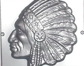 Indian Chief Chocolate Candy Mold 521