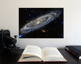 "The Andromeda Galaxy 19"" x 13"" Poster - Science Astronomy Wall Art Print- Window on the Universe series"