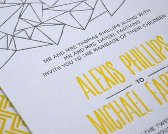 Letterpress Wedding Invitations by Doodle