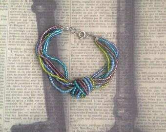 Multi-Strand Seed Bead Knot Bracelet