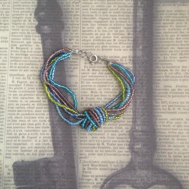 multi strand seed bead knot bracelet