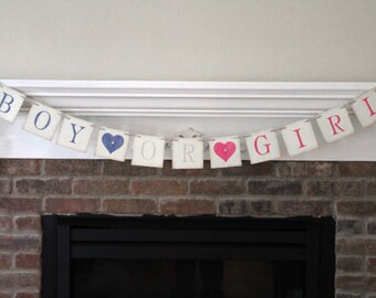 Gender Reveal Banner • Boy or Girl Banner Baby Banner Baby Shower Banner Baby Shower Decor