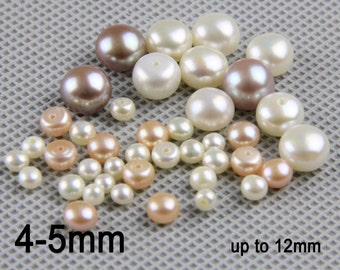 10pcs,2mm,3mm,4mm loose button pearls&freshwater pearl pairs,loose pearl beads,invory white pearl earring stud,pearl stud material LP002