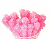 Bubble Gum Rock Candy Crystal Sticks -10 count