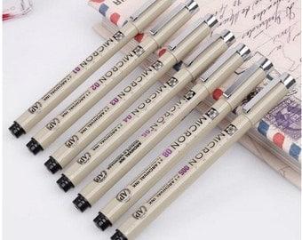 1 pc Sakura Micron Black Pen for Cartoon design, paper working, scrapbook, wedding--2 sizes to choose