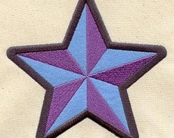 """Embroidered Patch / applique - Rock Star - sew or glue on 3x4"""""""