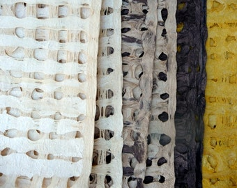 handmade amate bark paper weave from mexico 5 sheets 8x8