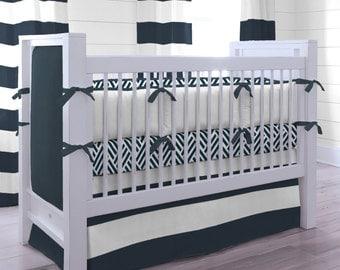 Boy Baby Crib Bedding: Navy and White Nautical 3-Piece Crib Bedding Set by Carousel Designs