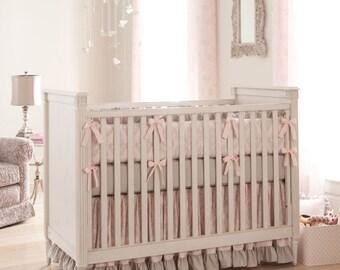 Girl Baby Crib Bedding Paris Script 2 Piece Set By Carousel Designs