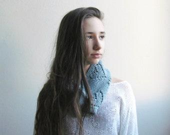 Denim blue scarf /  Merino wool / Block color / Winter accessories unisex / winter scarf