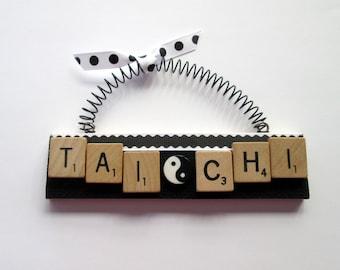 Tai Chi Scrabble Tile Ornament