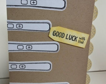 Good Luck with That - Pregnancy Handmade Card