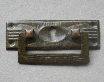 Vintage escutcheon,  key hole plate , vintage Furniture , Home Decor. 40s