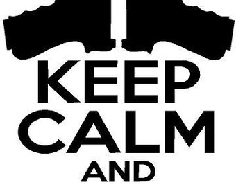 Keep Calm And Carry On Sticker Vinyl Decal