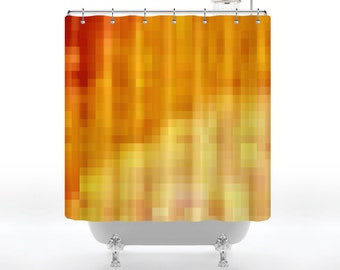 Digital Sonoran Sunrise Shower Curtain