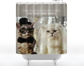 Custom Printed Shower Curtain - Use Your Own Image