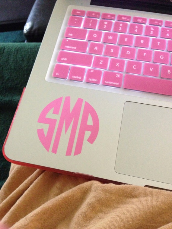 2 5 Inch Monogram Sticker Vinyl Decal For Laptops Mac Book