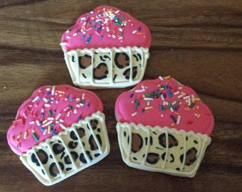 Leopard cupcake COOKIES