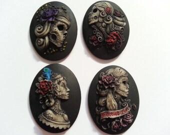 Hand Painted Gypsy Sugar Skull Needle Minders