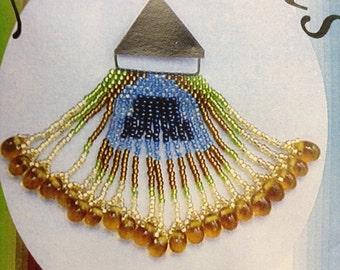 Art Deco Style Beadwork Brooch Kit, Intermediate Beadweaving Kit