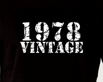 1978 Vintage 40th Birthday Gift For Brother T Shirt Tshirt Tee Funny Turning Age 40