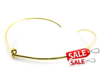 Gold Choker Nacklace Gold Collar Necklace Gold Necklace Brass Choker Necklace Gold Brass Necklace Brass Collar Necklace 077