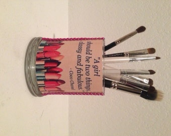 Coco Chanel inspired makeup brush holders