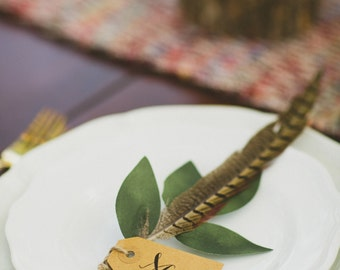 Feathered Placecards