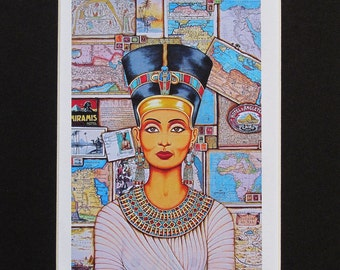 Queen of Amarna Fine Art Print by Joseph Sonday