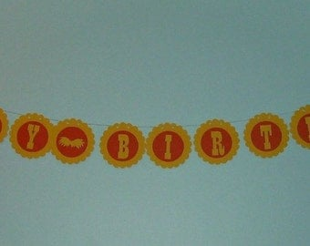 Lorax Mustache Happy Birthday Banner decoration (500B)