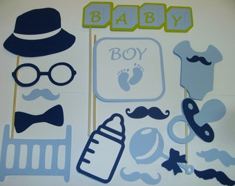 Baby Boy Photo Booth Prop Set 14 piece (2078D)