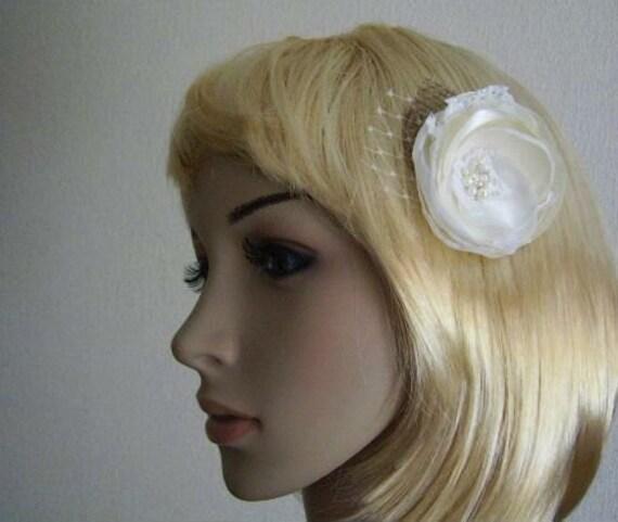 Ivory Flower Hair Clip Wedding: Items Similar To Bridal Ivory Hair Flower Wedding
