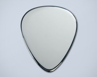 Solid Sterling Silver Plectrum Guitar Pick. Engraved Free and Free gift box.
