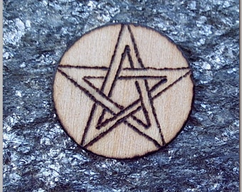 Thin Pine Pentacle Spell Craft Supply Pentagram for Wicca Pagan Witchcraft BOS or Scrapbook Use